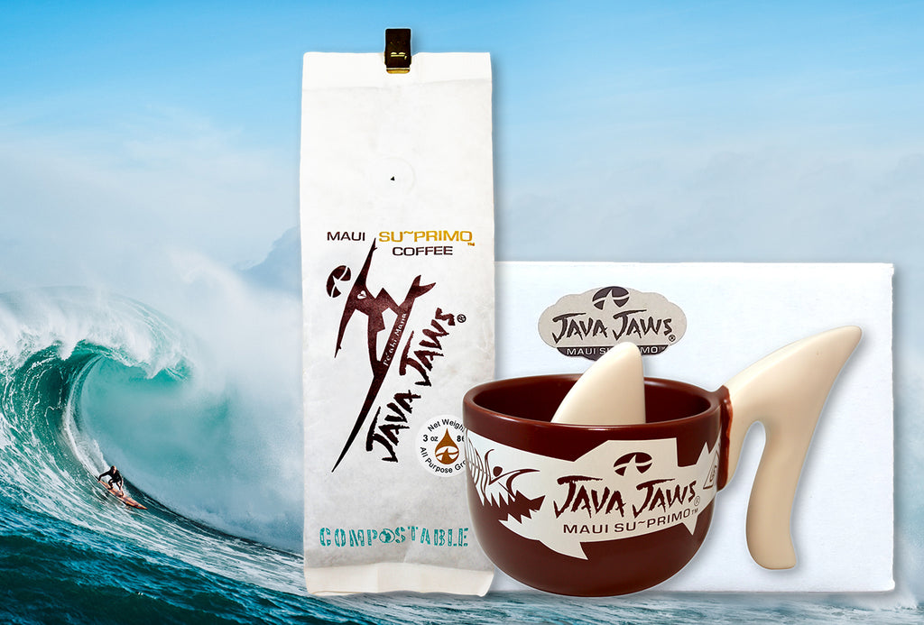 Java Jaws Maui SuPrimo Coffee Shark Cup