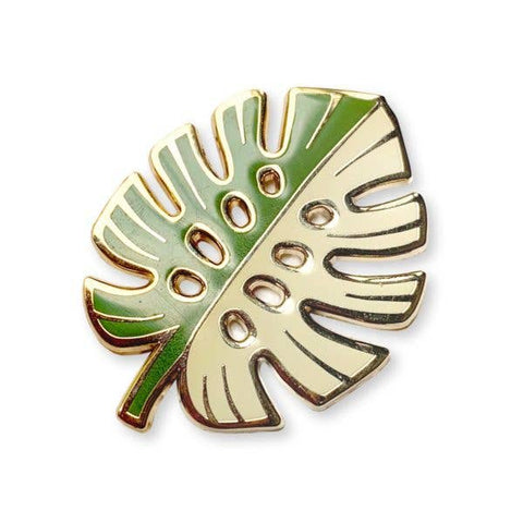 Variegated Monstera Enamel Pin