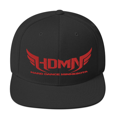 Red and Black HDMN Snapback Hat