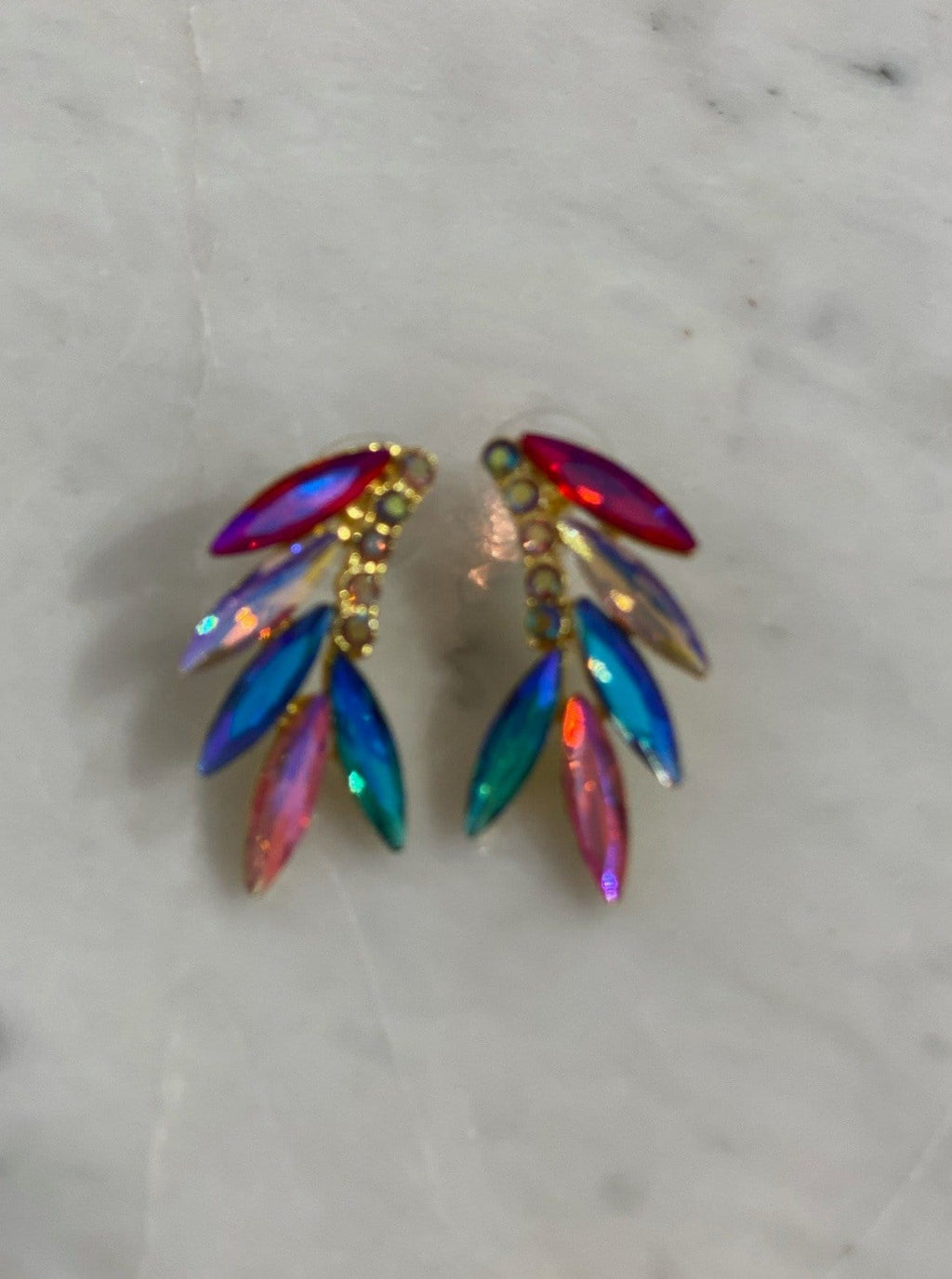 Crystal Wings Earrings