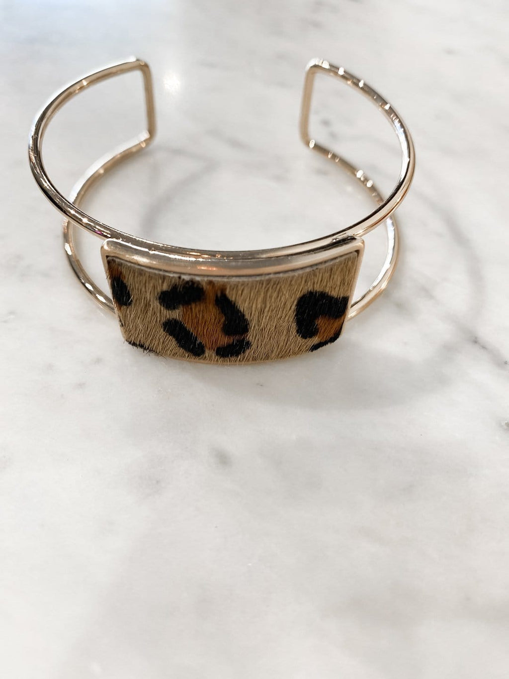 Leopard Rectangle Cuff