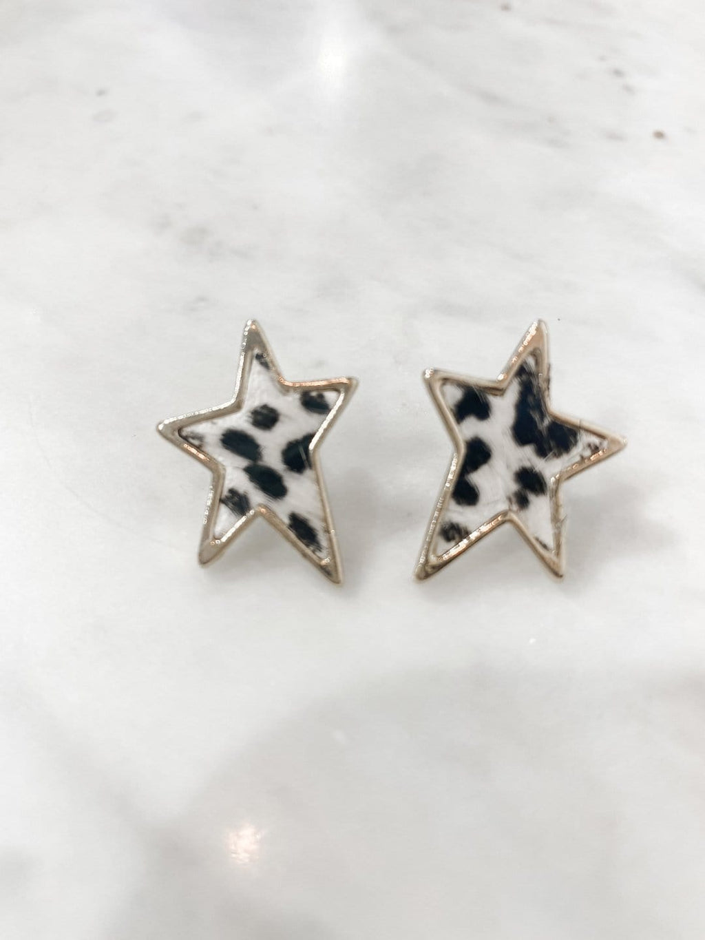 Star Leopard Earrings