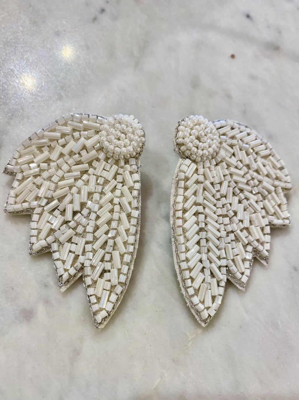 Beaded Wings Earrings