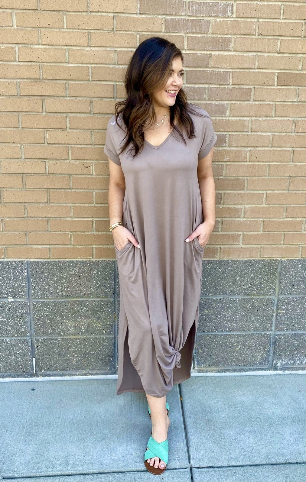 Positively Perfect Dress, Taupe