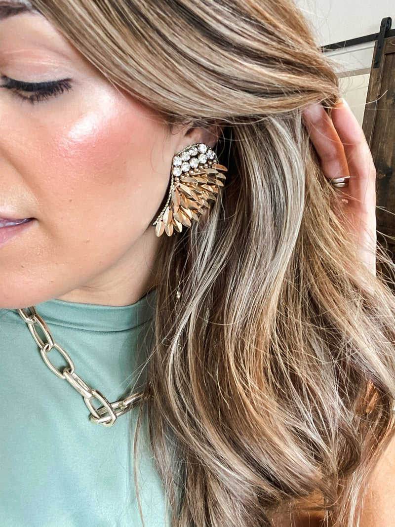 Glam Up Wing Earrings