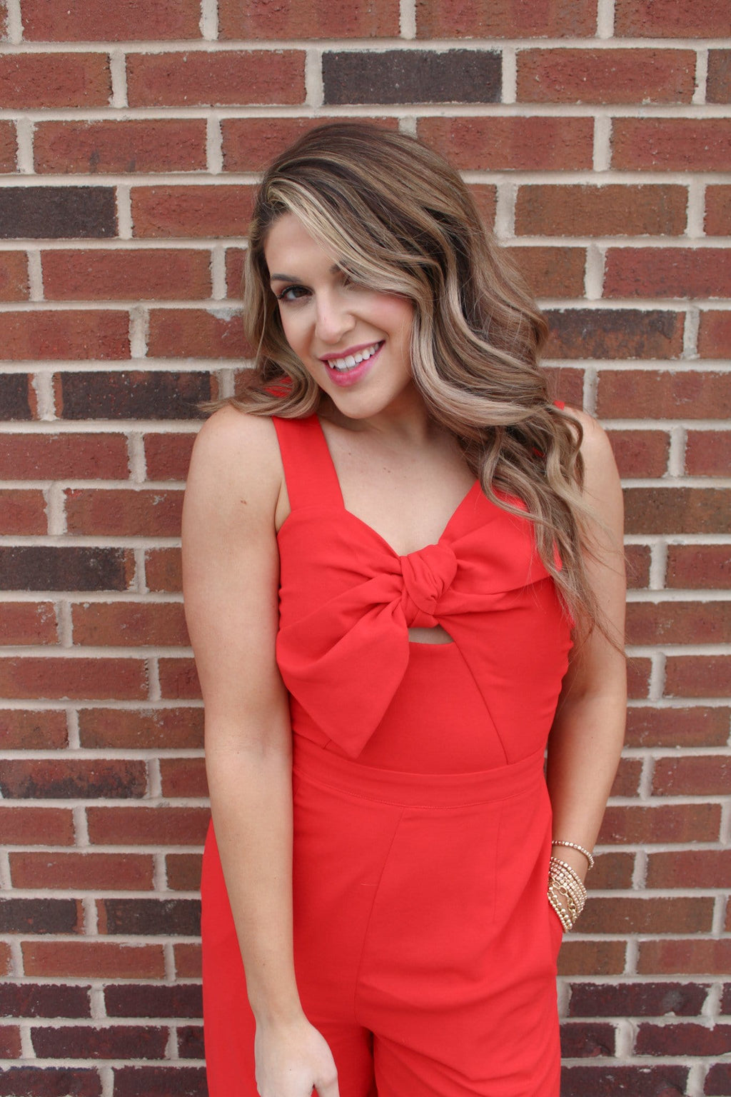 Total Knockout Red Jumpsuit