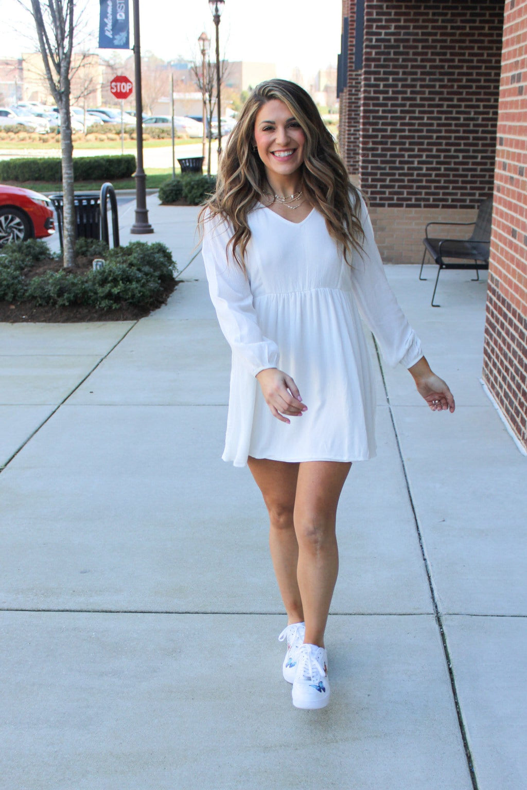 It's a Trend Dress, White