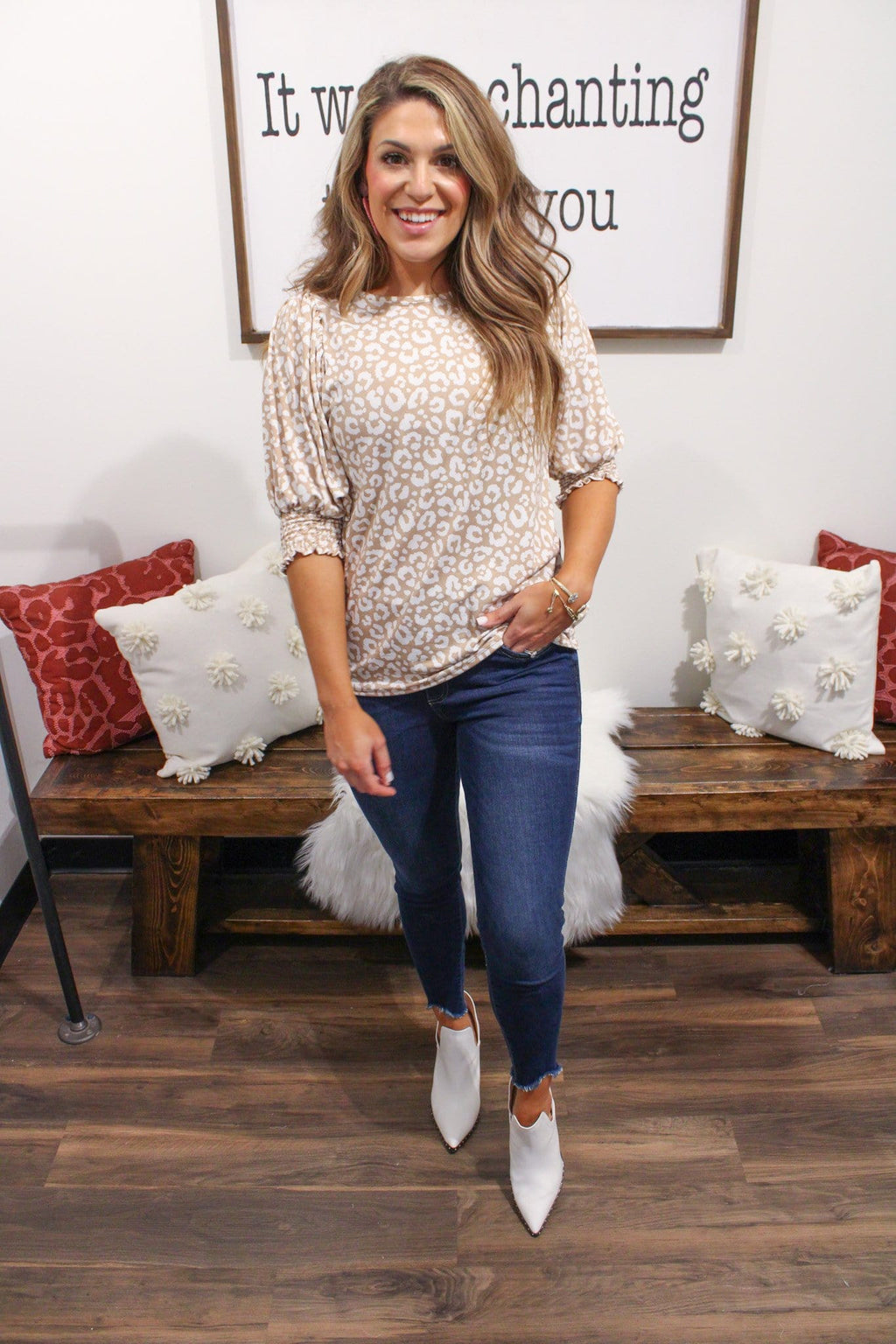 Callie Top, Taupe