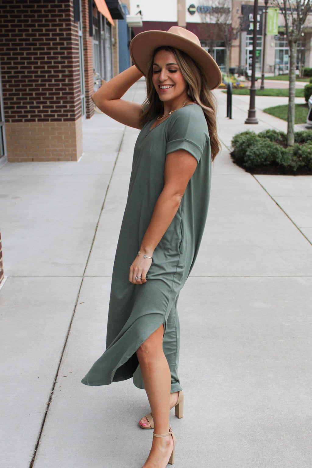 Positively Perfect Dress, Green