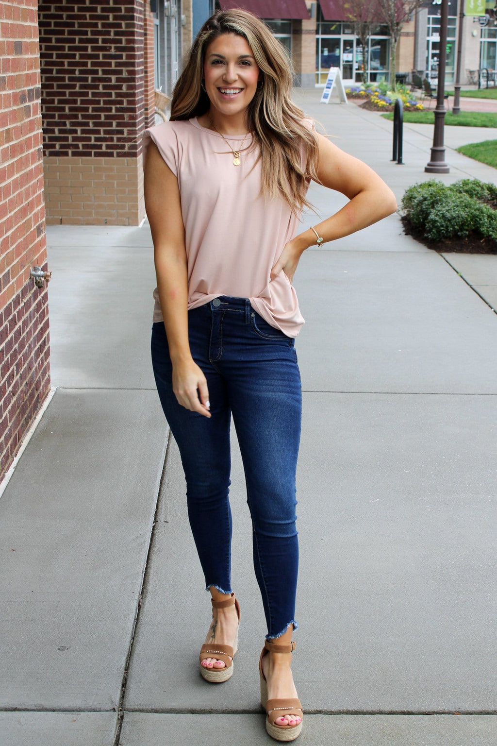 Becky Top, Taupe