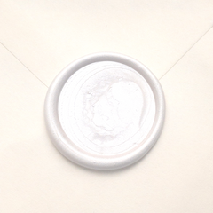 ivory pearl blank round wax seal