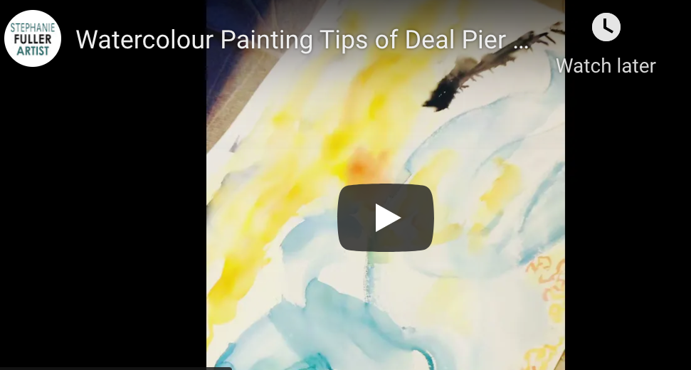 Watercolour Painting Tips of Deal Pier by Stephanie Fuller