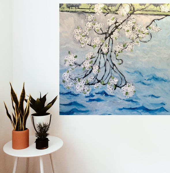 Cherry Blossoms Painting by Stephanie Fuller