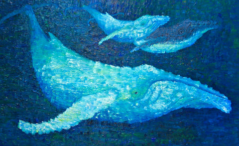 The Beauty of Whales Painting of Migaloo by Stephanie Burns