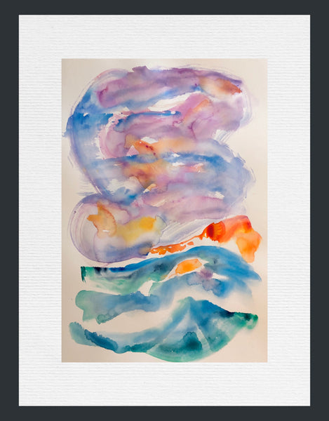 Best Colourful Sunrise Painting in Contemporary Watercolours by Stephanie Fuller Artist