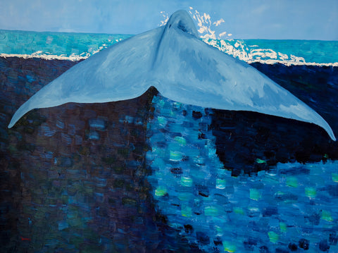 Blue Whale Oil Painting by Stephanie Burns 91x121cm