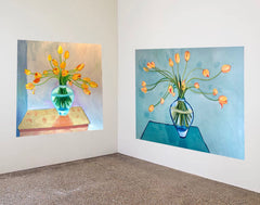 Yellow Tulip paintings by Stephanie Fuller