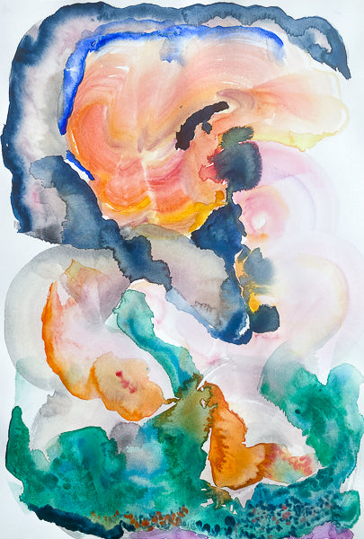 Sunset Watercolour by Stephanie Fuller