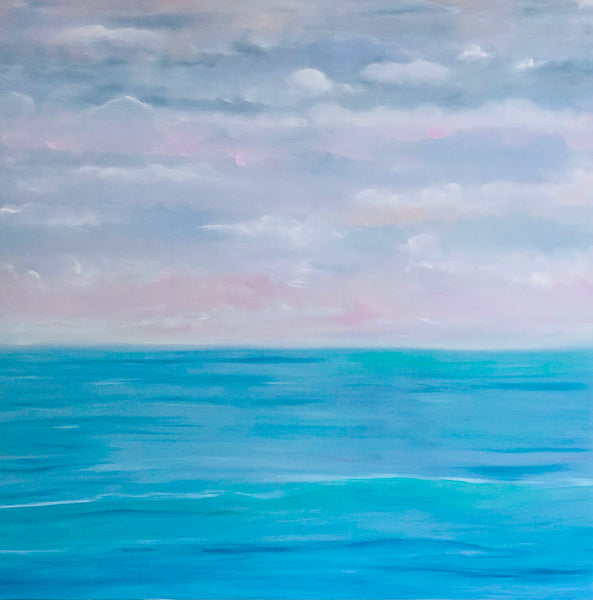 Beautiful Seascape Oil Painting by Stephanie Fuller British Artist