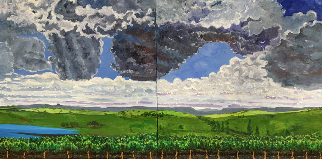 Storm Clouds of the 21C Oil Painting by Stephanie Fuller