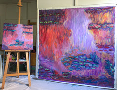 Waterlilies paintings by Stephanie Fuller