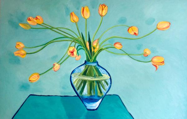Yellow Tulips painting by Stephanie Fuller