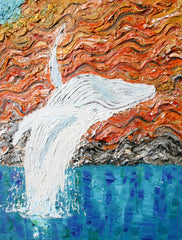 Migaloo in the Kimberly Oil on Canvas by Stephanie Burns