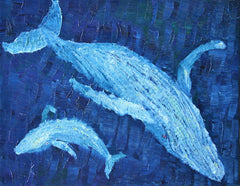 Migaloo Oil Painting By Stephanie Burns