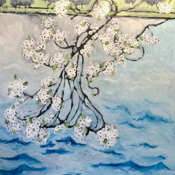 Cherry Blossoms Painting by Stephanie Burns