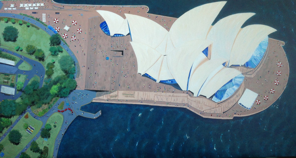 Sydney Opera House Painting by Stephanie Burns