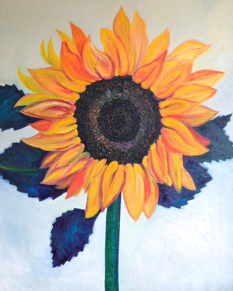 Sunflower painting by Stephanie Fuller