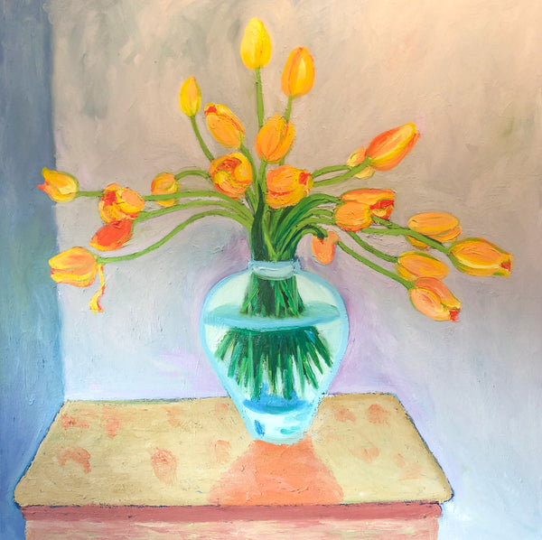 Vase of Tulips painting by Stephanie Fuller
