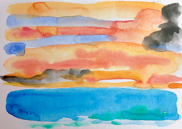 Seascape Painting off Sandwich Bay by Stephanie Fuller Artist