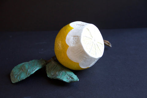 Lemon Bronze Sculpture by Stephanie Burns