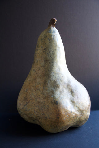 Pear Bronze Sculpture by Stephanie Burns