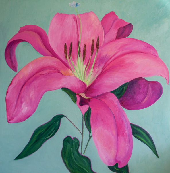Beautiful Pink Lily Painting by Stephanie Fuller