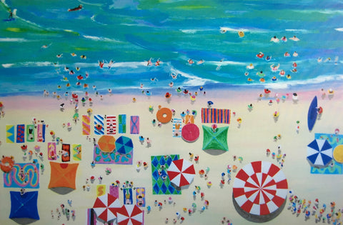 Mollymook Beach painting by Stephanie Burns