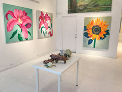 Sunflower painting at Elysium Verto Exhibition by Stephanie Fuller