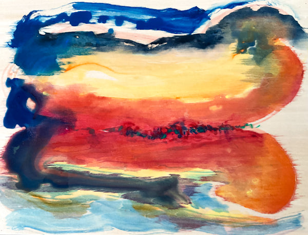 Before Sunrise Reflections Watercolour Painting by Stephanie Fuller Artist