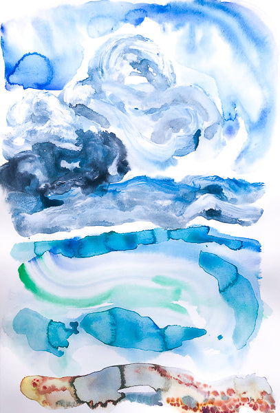 Shingles and Clouds Watercolour Painting by Stephanie Fuller Artist