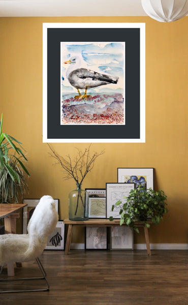 Seagull Painting Walmer by Stephanie Fuller Artist