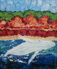 Albino Calf Breaching Painting by Stephanie Fuller