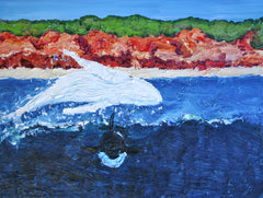 Danger In The Water Painting by Stephanie Fuller