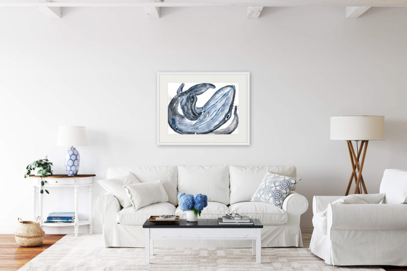 Humpback Whale Painting Watercolour by Stephanie Fuller Artist
