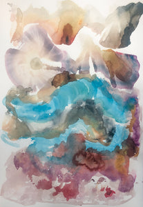 Best Contemporary British Watercolour Paintings of Clouds and Sunrise by Stephanie Fuller Artist