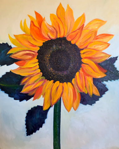 Best Sunflower Oil Painting by Stephanie Fuller Modern Art