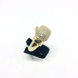 9ct Gold Boxing glove ring with white cz size U 1/2