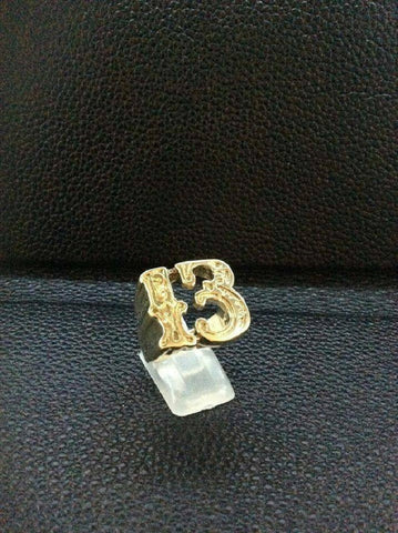 9ct Gold Lucky 13 Ring size U