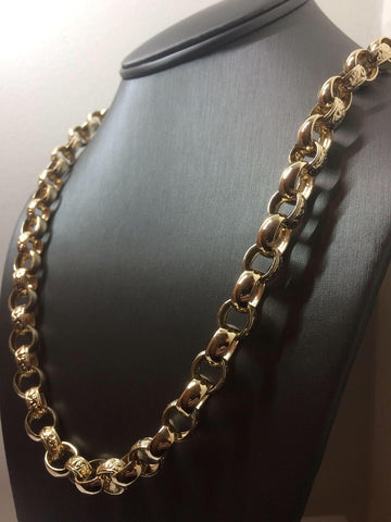 9ct gold oval Belcher Chain 26""