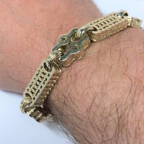 Stars & Bars 9ct gold Bracelet Jewellery